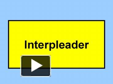 what is an interpleader
