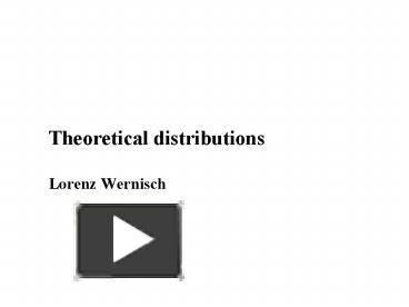 ppt – theoretical distributions lorenz wernisch powerpoint, Xlab Template Presentation, Presentation templates