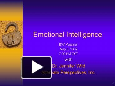 PPT – Emotional Intelligence PowerPoint presentation | free to view