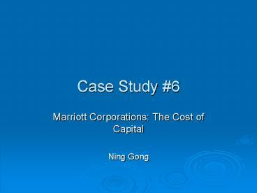 case analysis for the cost of capital for goff computer inc
