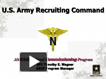 Ppt us army recruiting command powerpoint presentation free to ppt us army recruiting command powerpoint presentation free to view id 197f1 ndnln toneelgroepblik Images