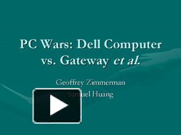 gateway vs dell essay
