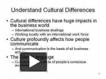 impacts of culture differences on international