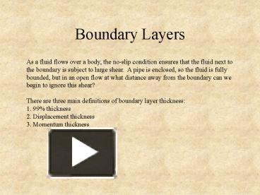 PPT – Boundary Layers PowerPoint presentation | free to view - id