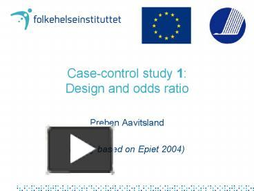 case control studies and odds ratio
