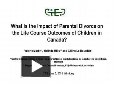 "long term impact of parental divorce 7) paul r amato and jacob cheadle, ""the long reach of divorce: divorce and child well-being across three generations,"" journal of marriage and family 67, (2005): 201 8) william s aquilino, ""later-life parental divorce and widowhood: impact on young adults' assessment of parent-child relations,"" journal of marriage and family 56."