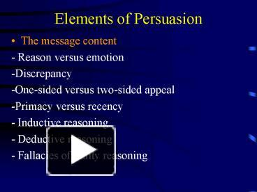 Ppt Elements Of Persuasion Powerpoint Presentation Free To View Id 1b3b89 Zdc1z