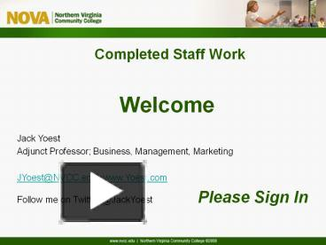 PPT – Completed Staff Work PowerPoint presentation | free to