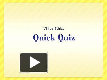 post ethics quiz