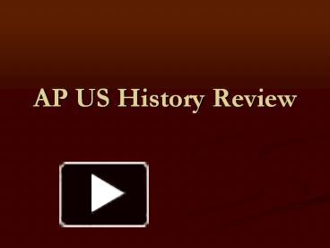 ap us history review