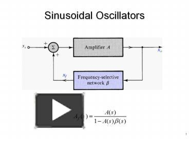 PPT – Sinusoidal Oscillators PowerPoint presentation   free to