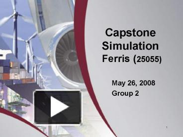 capstone simulation report essay