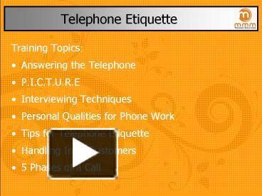 ppt telephone etiquette tips powerpoint presentation. Black Bedroom Furniture Sets. Home Design Ideas