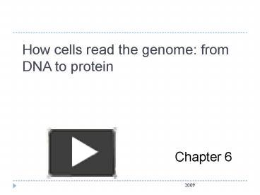 Ppt how cells read the genome from dna to protein powerpoint ppt how cells read the genome from dna to protein powerpoint presentation free to view id 1c5499 njmzn malvernweather Choice Image