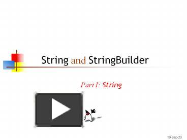 PPT – String and StringBuilder PowerPoint presentation
