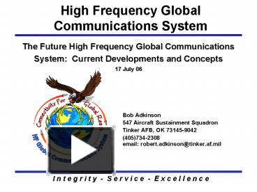 PPT – The Future High Frequency Global Communications System