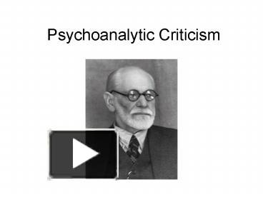 poe and psychoanalytic criticism