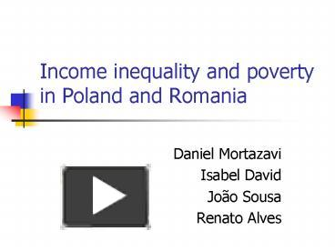 vast social inequality