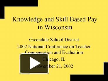 skill based pay