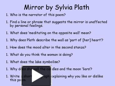 Essay On Oedipus  Essay On Sylvia Plath Mirror Mirror By Sylvia Plath Essay Buy Custom  Mirror By Sylvia  Introductory Paragraph Of An Essay also Political Parties Essay Essay On Sylvia Plath Mirror Coursework Help Hipaperzldninfrasauny  Business Essay Format