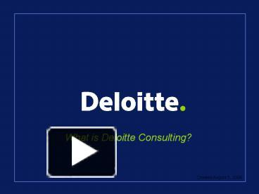 ppt – deloitte consulting powerpoint presentation | free to, Presentation templates