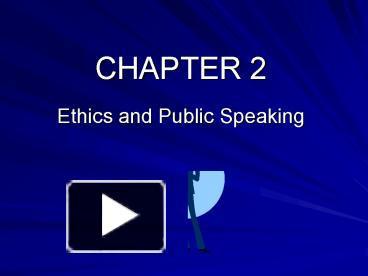 ethics of public speaking