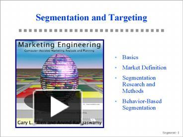 basic segmentation targeting and positioning