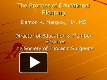 educational planning process