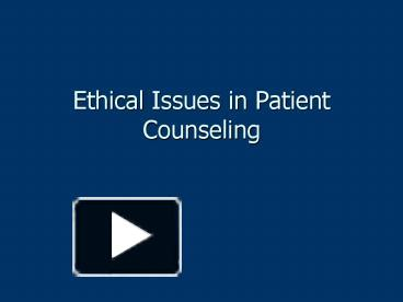 ethical principles in patient dumping Support expressly tailored to the patient's needs and wishes ethical principles: guidelines for hospice and palliative care clinical and organizational conduct.