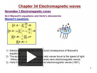 PPT – Chapter 34 Electromagnetic waves PowerPoint presentation