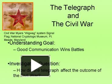 Ppt the telegraph and the civil war powerpoint presentation free ppt the telegraph and the civil war powerpoint presentation free to view id 1efac zdnly publicscrutiny Image collections