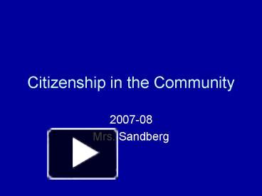 Worksheets Citizenship In The Community Worksheet Answers ppt citizenship in the community powerpoint presentation free to view id 1f2d71 nja4m