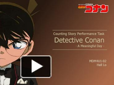 ppt – counting story performance task detective conan a meaningful, Presentation templates