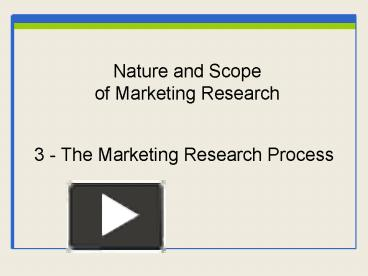 nature of marketing research Journal of marketing, current issue  this special issue seeks to bring together wide-ranging research to assess, illuminate, and debate whether, when,.