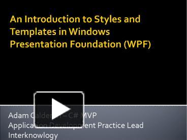 PPT – An Introduction to Styles and Templates in Windows