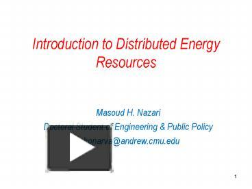 energy resources introduction