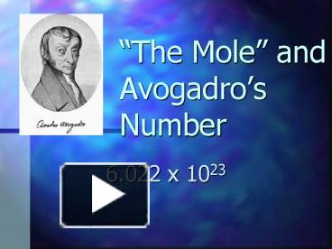 avagadros number essay Learn how to determine avogadro's number using an experiment plus get advice on how to get an accurate value with a sample calculation.