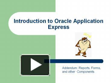 Oracle Application Form