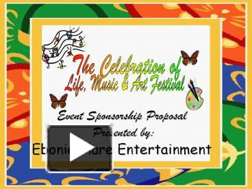 ppt – event sponsorship proposal presented by: ebonie flare, Powerpoint templates
