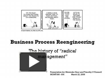 PPT – Business Process Reengineering PowerPoint presentation | free