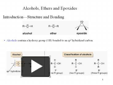 Ppt Alcohols20ethers20and20epoxides Powerpoint Presentation