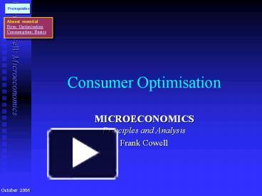 notes on microeconomics