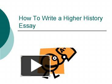 Higher History Essay Introduction?