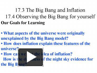 an analysis of the big bang model The big bang model vs the steady state, free study guides and book notes including comprehensive chapter analysis, complete summary analysis, author biography information, character profiles, theme analysis, metaphor analysis, and top ten quotes on classic literature.