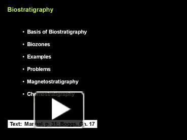 Define biostratigraphic dating