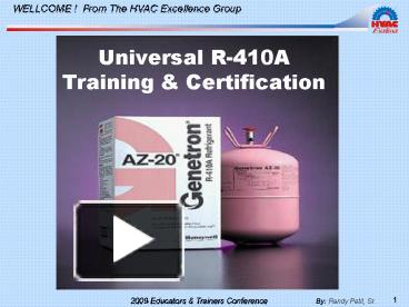 PPT – Universal R410A Training PowerPoint presentation