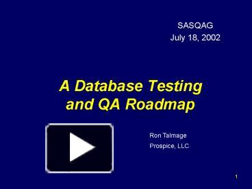 PPT A Database Testing And QA Roadmap PowerPoint Presentation - Qa roadmap template
