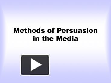 persuasion in the media