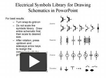 PPT – Electrical Symbols Library for Drawing Schematics in ...