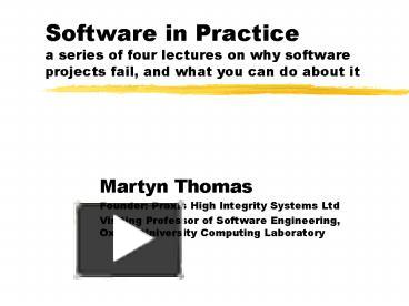 why software systems fail